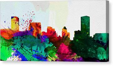 Baltimore City Skyline Canvas Print by Naxart Studio