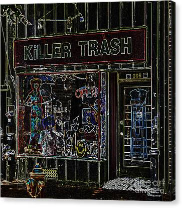 Baltimore Storefront Impression Canvas Print