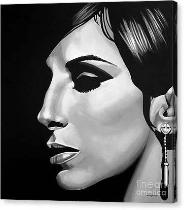 Barbra Streisand Canvas Print