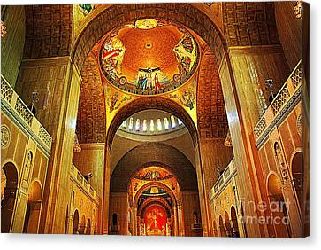 Canvas Print featuring the photograph  Basilica Of The National Shrine Of The Immaculate Conception by John S