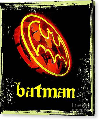 Batman In Halifax Canvas Print by John Malone