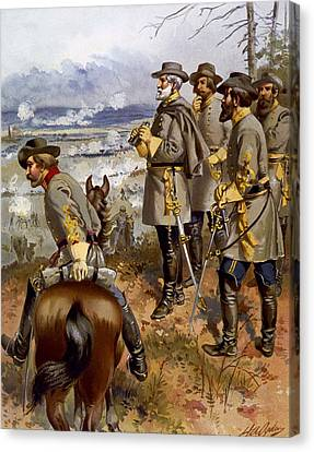 Battle Of Fredericksburg Canvas Print by American School