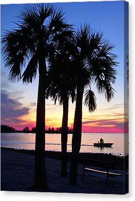 Canvas Print featuring the photograph  Beach Sunset by Aimee L Maher Photography and Art Visit ALMGallerydotcom