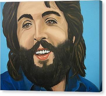 Bearded  Paul Mccartney Canvas Print