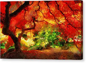 Canvas Print featuring the painting  Beautiful Autumn by Georgi Dimitrov
