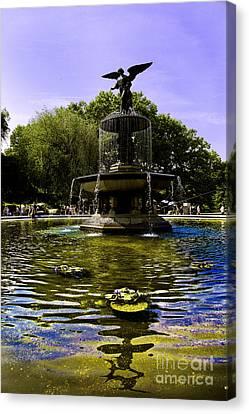Bethesda Fountain - Central Park  Canvas Print by Madeline Ellis