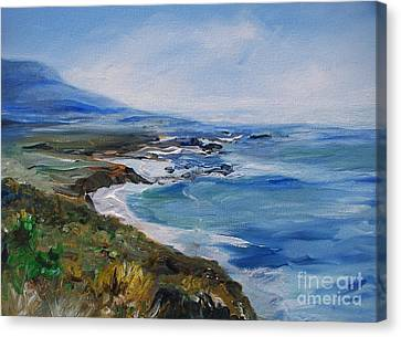 Canvas Print featuring the painting  Big Sur Coastline by Eric  Schiabor