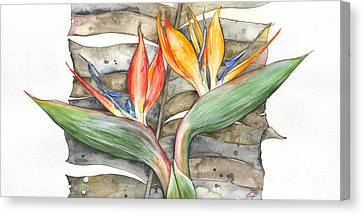 Bird Of Paradise 04 Elena Yakubovich Canvas Print