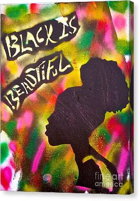 Black Is Beautiful Girl Canvas Print by Tony B Conscious