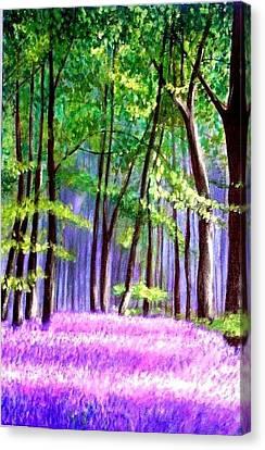 Bluebells Wood  Canvas Print