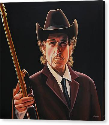 Bob Dylan Painting 2 Canvas Print by Paul Meijering