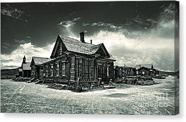 Bodie Ghost Town Panorama 02 Canvas Print by Gregory Dyer