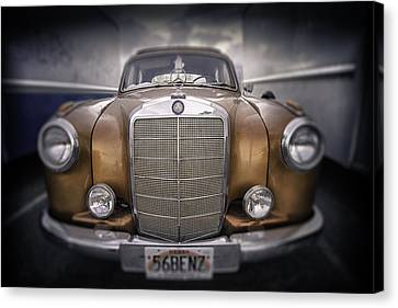 Canvas Print featuring the photograph  Boxed-in-benz...... by Russell Styles