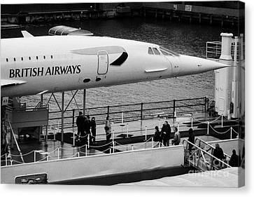 British Airways Concorde Exhibit At The Intrepid Sea Air Space Museum Canvas Print