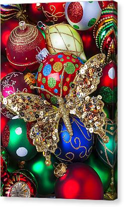 Sphere Canvas Print -  Butterfly Ornament by Garry Gay