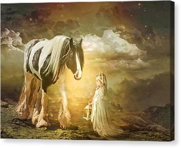 By Lantern Light Canvas Print by Trudi Simmonds