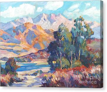 California Lake Canvas Print by David Lloyd Glover