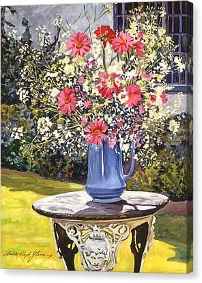 Camille's Garden Bouquet Canvas Print by David Lloyd Glover