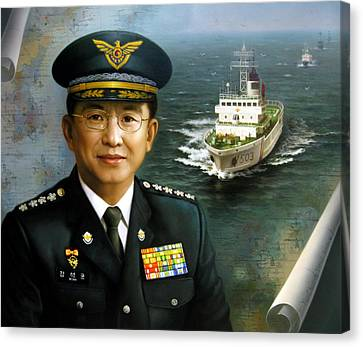 Captain Korea Canvas Print