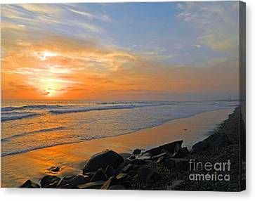 Carlsbad State Beach Canvas Print by Everette McMahan jr