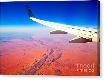 Central Australia From The Air  Canvas Print by Bill  Robinson