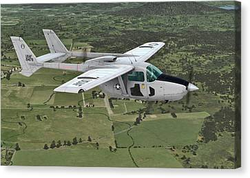 Cessna 0-2a Skymaster Canvas Print by Walter Colvin