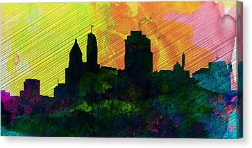 Cincinnati City Skyline Canvas Print by Naxart Studio