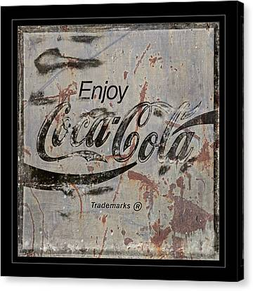 Coca Cola Sign Grungy Retro Style Canvas Print by John Stephens