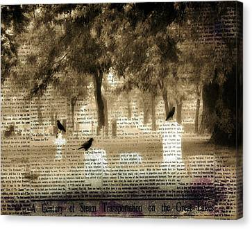 Collage Of Goth Canvas Print by Gothicrow Images