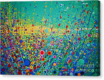 Colorful Flowerscape Canvas Print