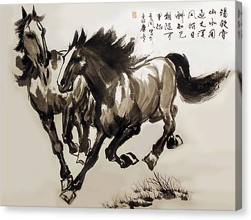Companionship Canvas Print by Yufeng Wang