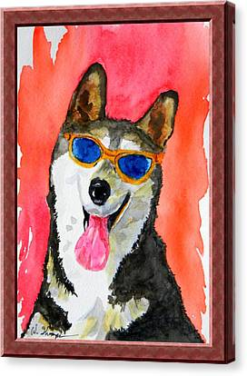 Cool Husky Canvas Print by Warren Thompson