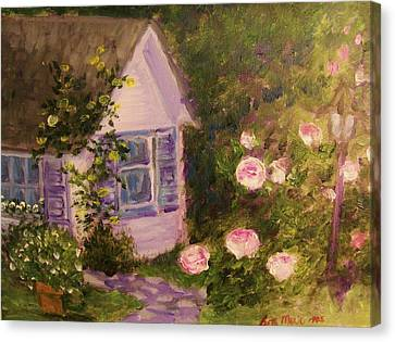Cottage  In  The  Garden Canvas Print