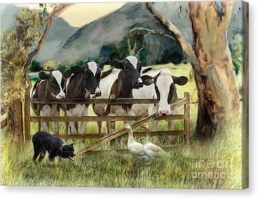 Country Characters Canvas Print by Trudi Simmonds