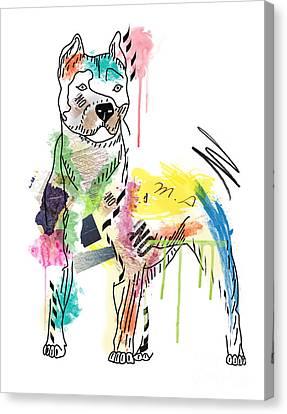 Cute Pit Bull Canvas Print by Mark Ashkenazi