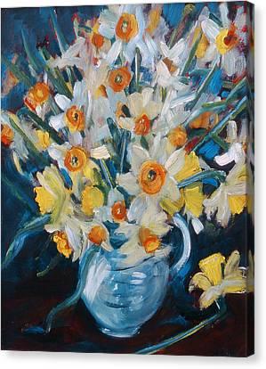 Daffodils Canvas Print -  Daffs by Gloria Wallington