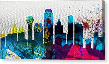 Dallas City Skyline Canvas Print
