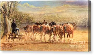 Canvas Print featuring the digital art  Days In The Dust by Trudi Simmonds