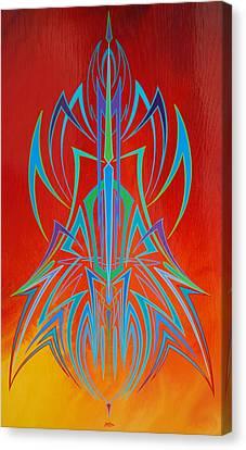 Desert Fire Storm Canvas Print