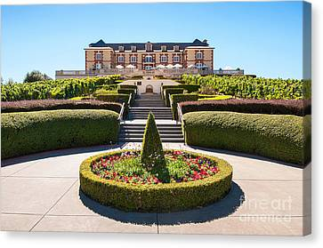 Tasting Canvas Print -  Domaine Carneros Winery And Vineyard In Napa Valley California. by Jamie Pham