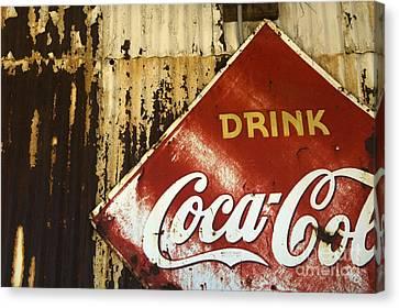Drink Coca Cola  Memorbelia Canvas Print by Bob Christopher