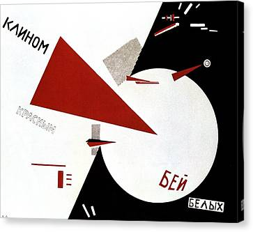 Drive Red Wedges In White Troops 1920 Canvas Print by Lazar Lissitzky