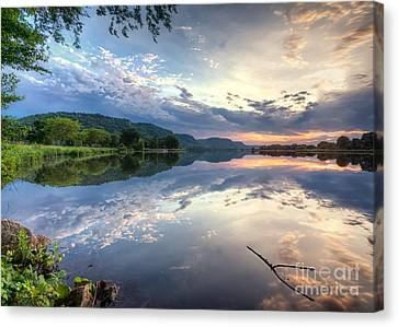 East Lake Sunset Canvas Print by Kari Yearous