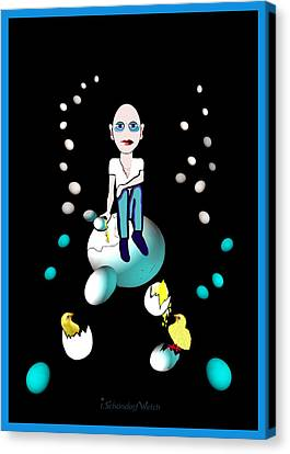 Egghead - 769 ... Canvas Print