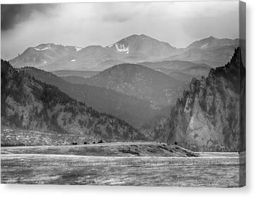 Eldorado Canyon And Continental Divide Above Bw Canvas Print by James BO  Insogna