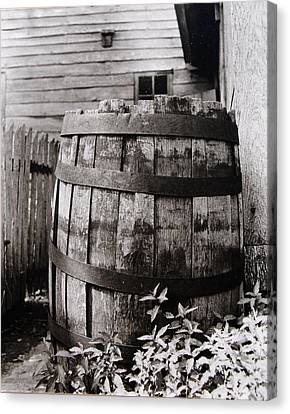 Canvas Print featuring the photograph  Ephrata Cloisters Barrel by Jacqueline M Lewis