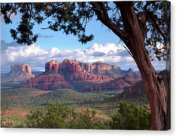 Evening Sky Red Rocks Canvas Print
