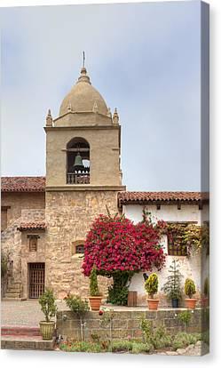 Facade Of The Chapel Mission San Carlos Borromeo De Carmelo Canvas Print by Ken Wolter