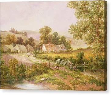 Farmyard Scene Canvas Print by C L Boes