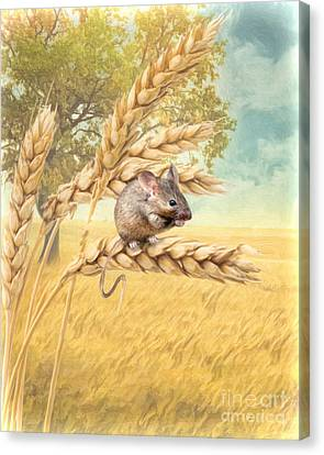 Canvas Print featuring the digital art  Field Mouse by Trudi Simmonds